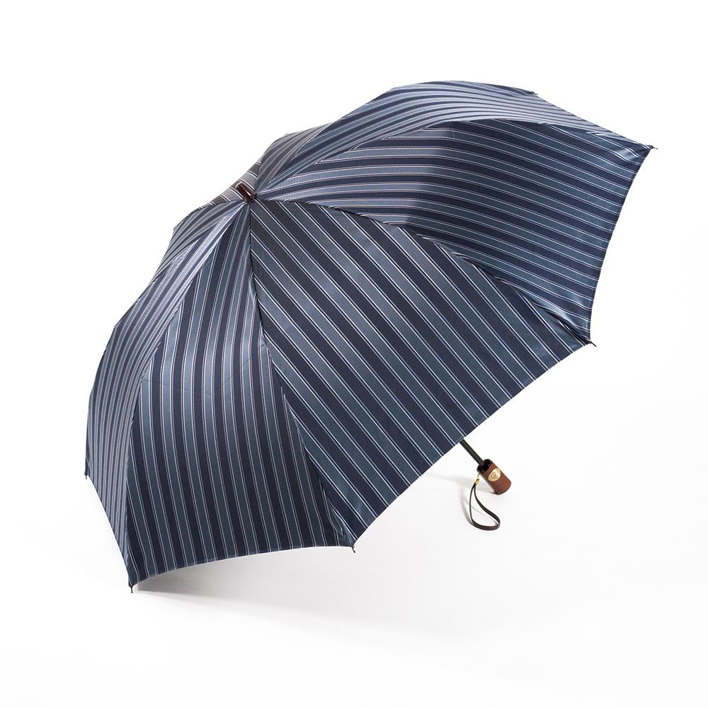 【紳士】ディライン-折りたたみ-ダークブルー×ネイビー