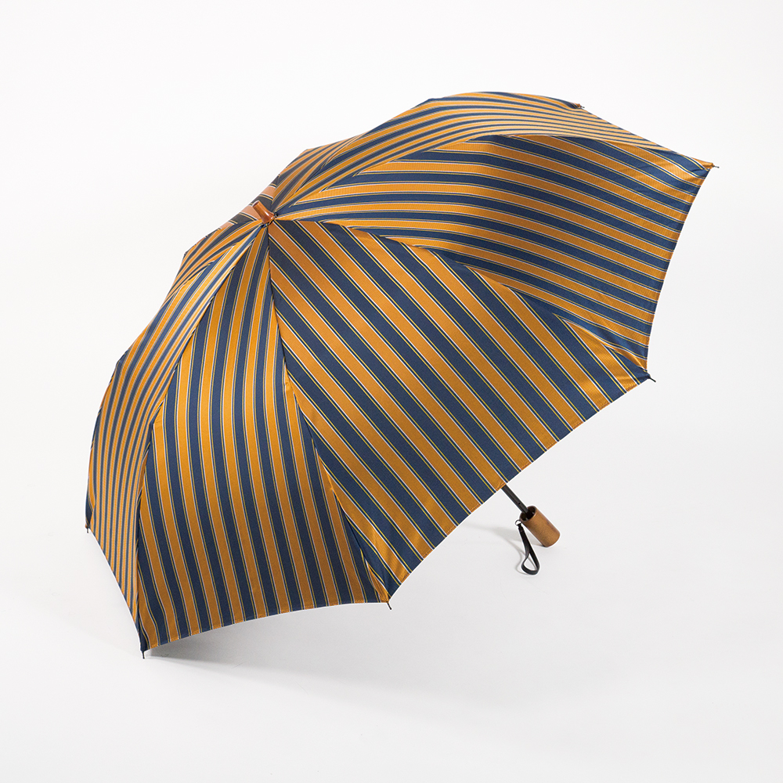 【紳士】ディライン-折りたたみ-オレンジ×ネイビー