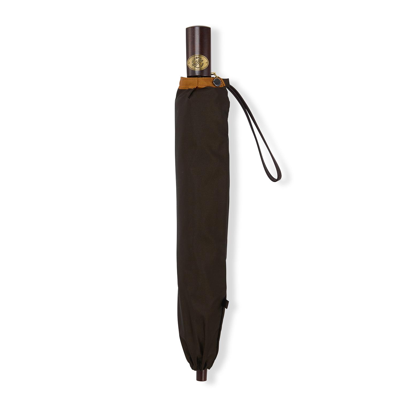 【紳士】ボーダー-折りたたみ-ブラウン×オレンジ