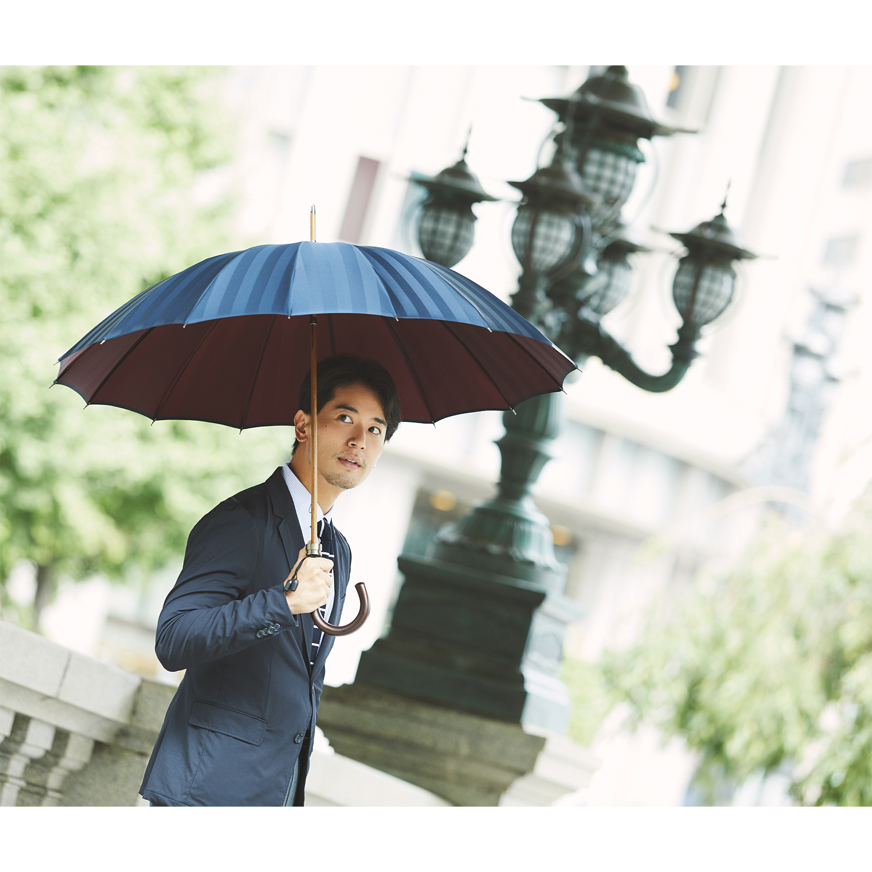 【紳士】シャドウ-ダークブルー×エンジ
