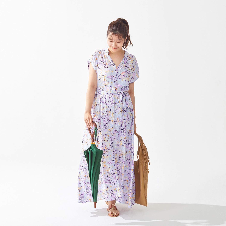 【婦人】日傘-インディアンヘッド-長-グリーン