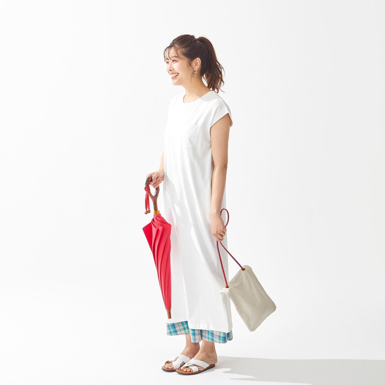 【婦人】日傘-インディアンヘッド-長-レッド