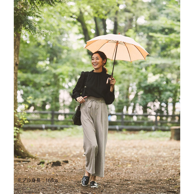 【婦人】日傘-インディアンヘッド-長-ピーチ