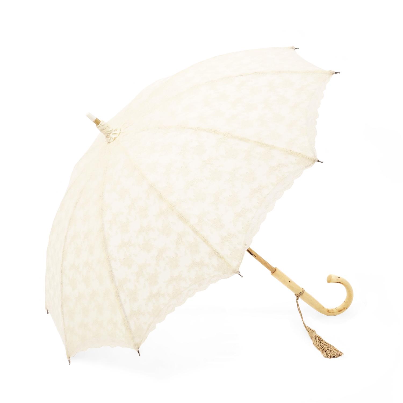 【婦人】日傘-総レース二重張り-ベージュ