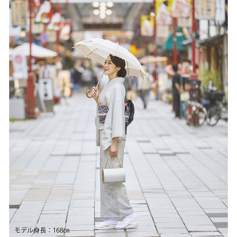 【婦人】日傘-麻トーション-ショート-1705-ベージュ