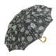 【婦人】日傘-ふくろ織り-2002-ショート-ブラック