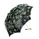 【婦人】日傘-ふくろ織り-2002-折りたたみ-ブラック