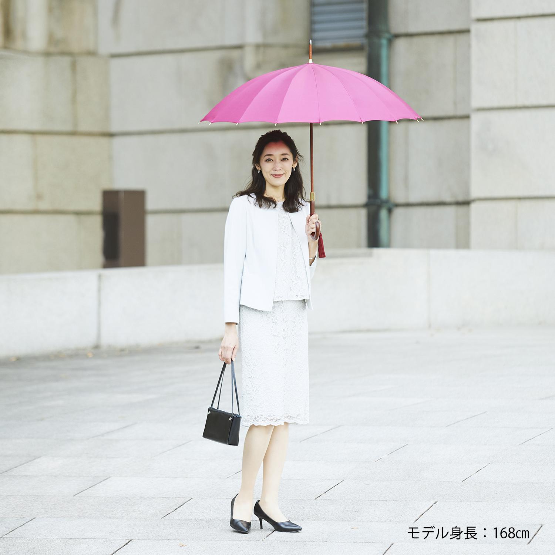 【婦人】トラッド-16-L-ワイン 牛本革手元