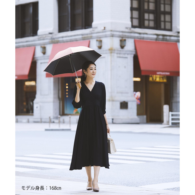 【婦人】晴雨兼用-一級遮光ペイズリー-ショート-ライトブラウン