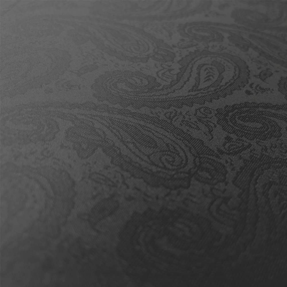 【婦人】晴雨兼用-一級遮光ペイズリー-折りたたみ-ブラック