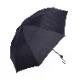 【婦人】晴雨兼用-一級遮光キューブ-折りたたみ-ブラック