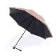 【婦人】晴雨兼用-一級遮光キューブ-折りたたみ-ライトブラウン