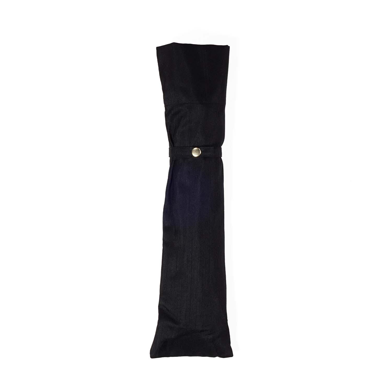 【婦人】晴雨兼用-シャンタン/50センチタイプ-折りたたみ-ブラック
