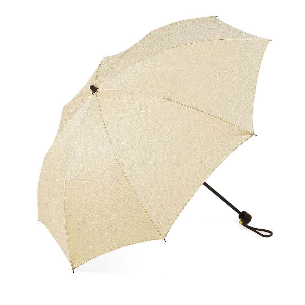 【婦人】晴雨兼用-シャンタン/50センチタイプ-折りたたみ-ベージュ