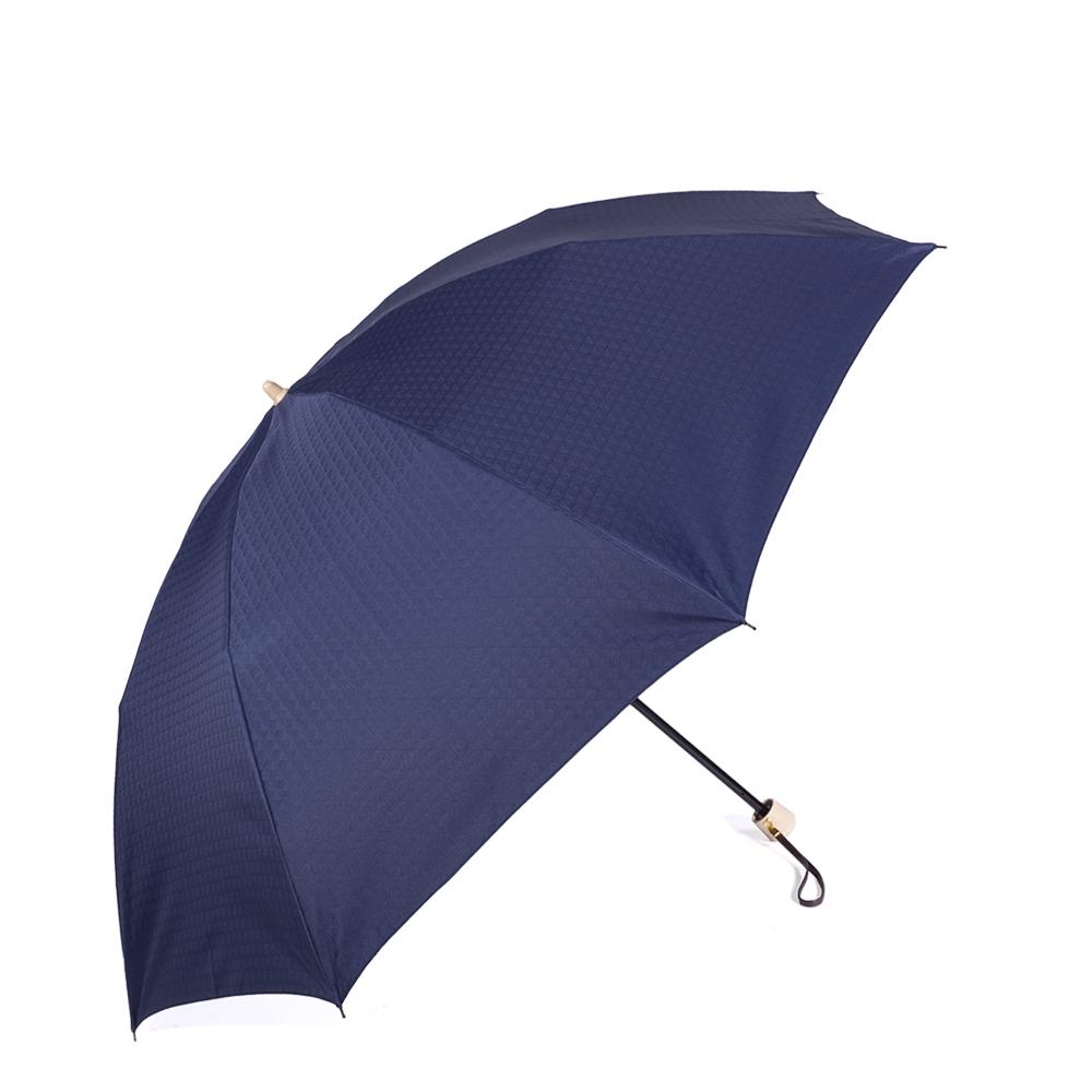 【紳士】晴雨兼用-一級遮光キューブ/58センチタイプ-折りたたみ-ネイビー