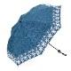 【婦人】晴雨兼用-エンブロイダリ遮熱タイプ-折りたたみ-ネイビー