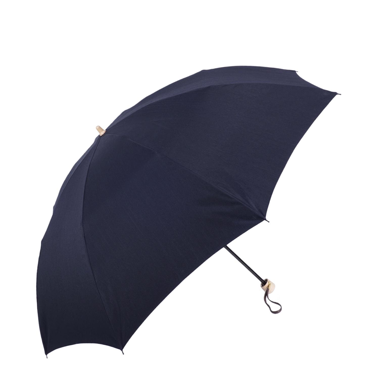 【紳士】晴雨兼用-シャンタン/58センチタイプ-折りたたみ-ネイビー