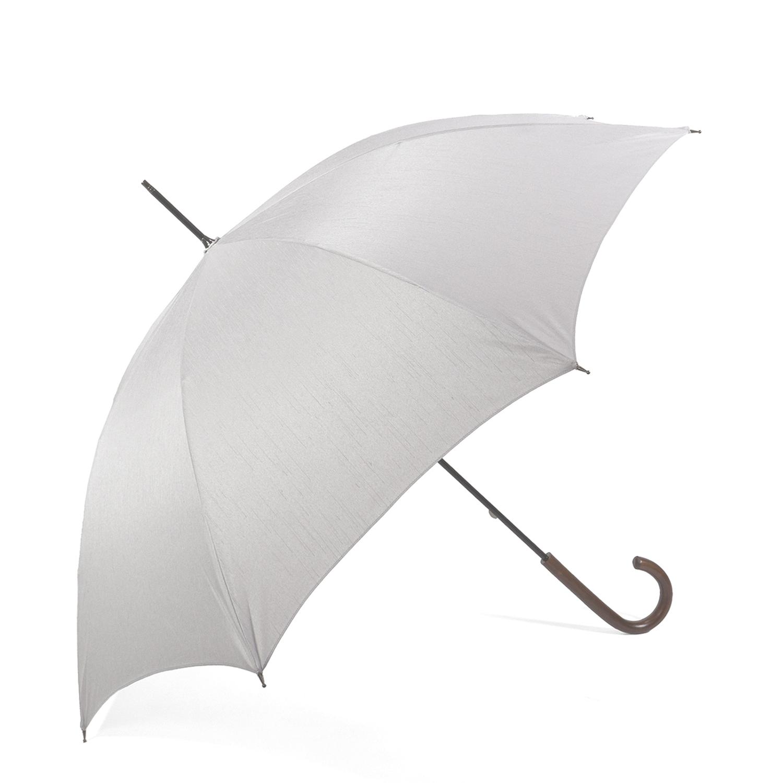 【紳士】晴雨兼用-シャンタン-長-グレー