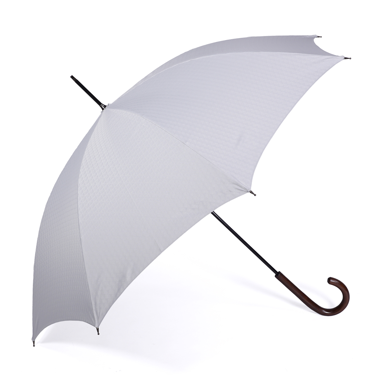 【紳士】晴雨兼用-一級遮光キューブ-長-シルバーグレー