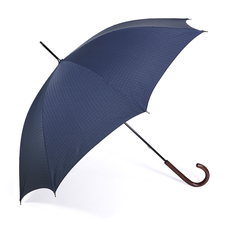 【紳士】晴雨兼用-一級遮光キューブ-長-ネイビー