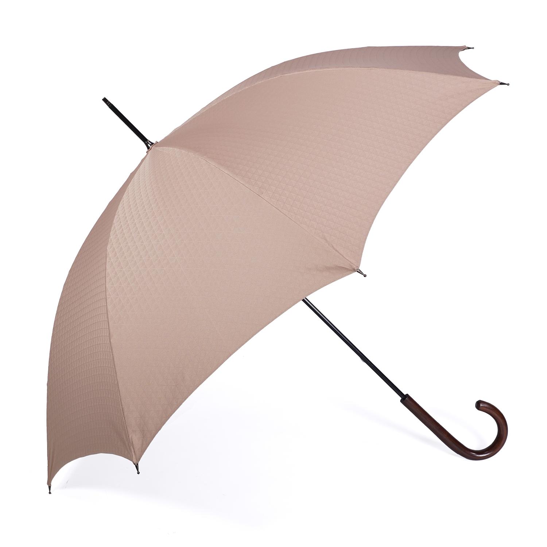 【紳士】晴雨兼用-一級遮光キューブ-長-ライトブラウン