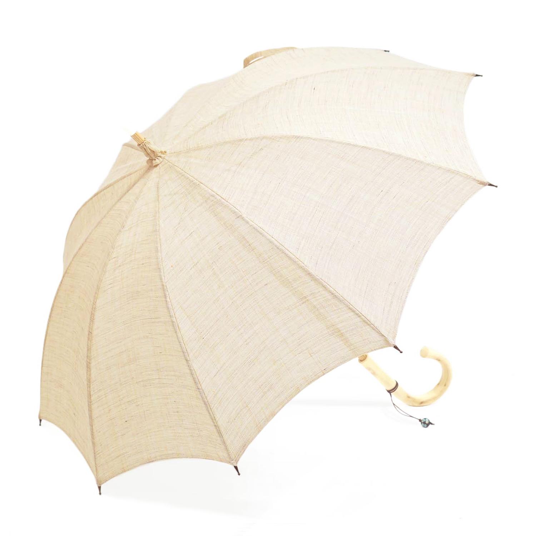 【婦人】日傘-麻生地-長-練色(ねりいろ)