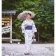 【婦人】日傘-麻生地-長-海松茶色(みるちゃいろ)