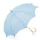【婦人】日傘-麻生地-長-浅葱(あさぎ)