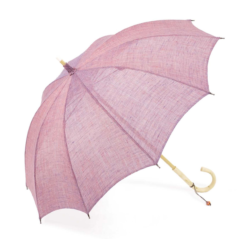 【婦人】日傘-麻生地-長-梅紫(うめむらさき)