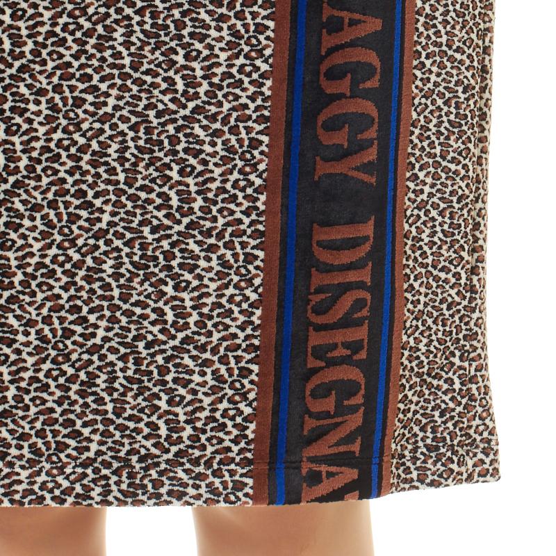 カタログ掲載【銀座マギーオリジナル】DONDI アニマル柄×オリジナルロゴニットスカート[全2色]