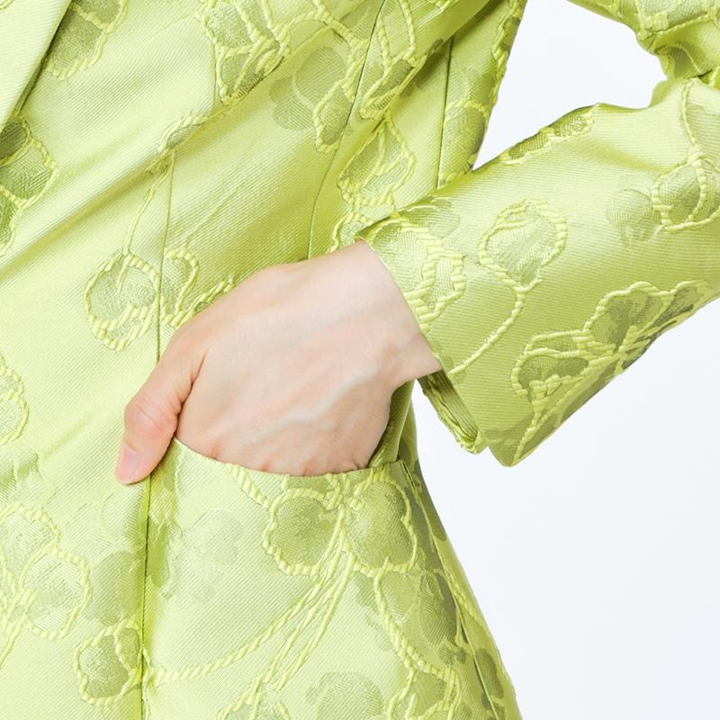銀座マギーオリジナル/PIERO GALLI フラワージャカードジャケット[全3色]