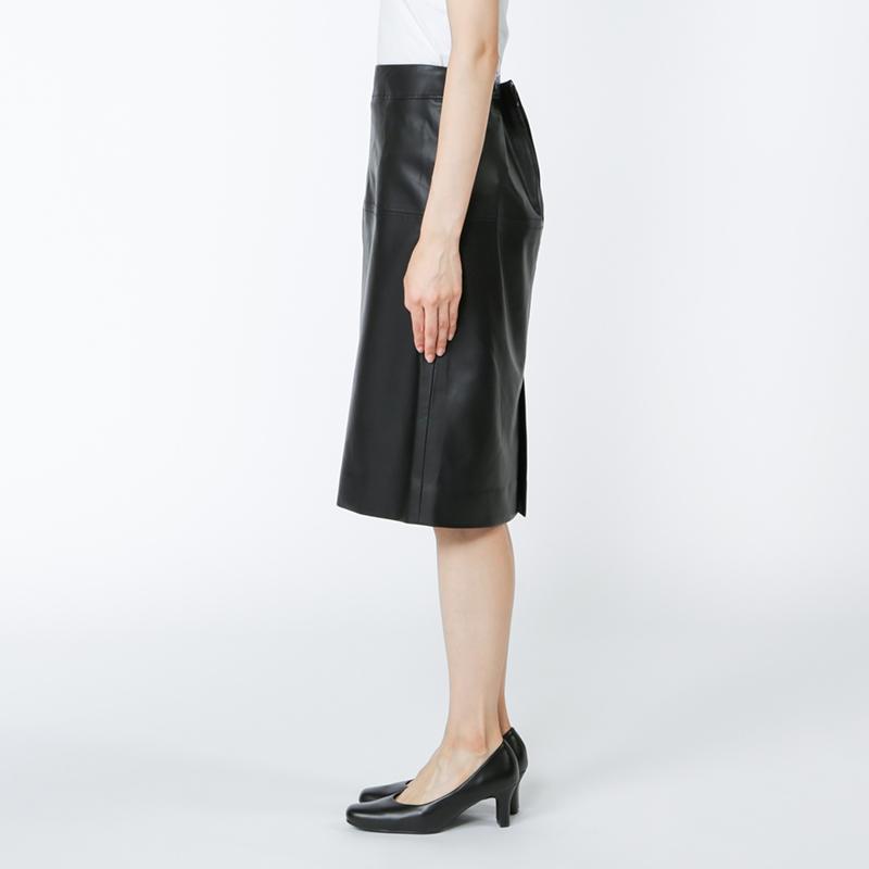 銀座マギーオリジナル/エコレザータイトスカート[全2色]
