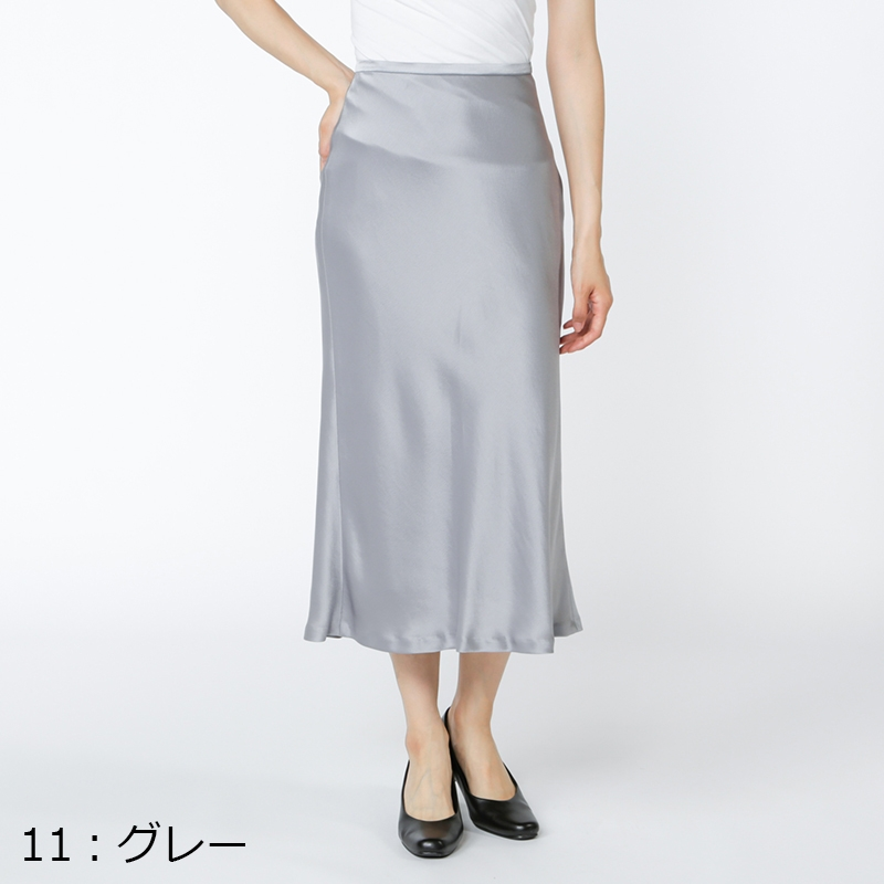 銀座マギーオリジナル/ハンマー サテン スカート[全2色]