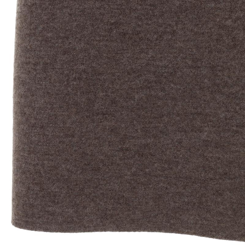 OfSTYLE/リバーシブルノーカラーニットコート[全2色]