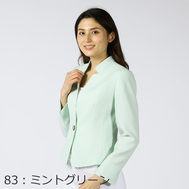 【銀座マギーオリジナル】ペールトーンフクレウールジャケット[全4色]