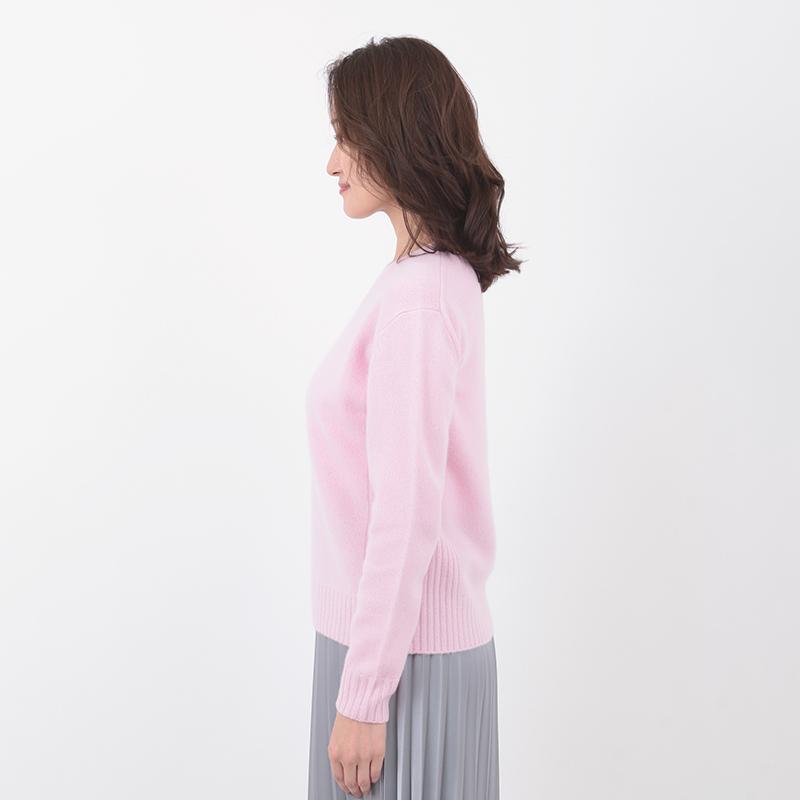 MAGGY/クルーネック カシミヤ プルオーバー[全4色]
