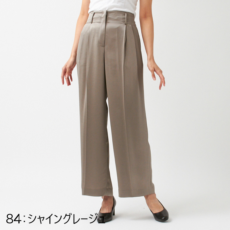 PLATINE/シャイニーワイドパンツ[全2色]