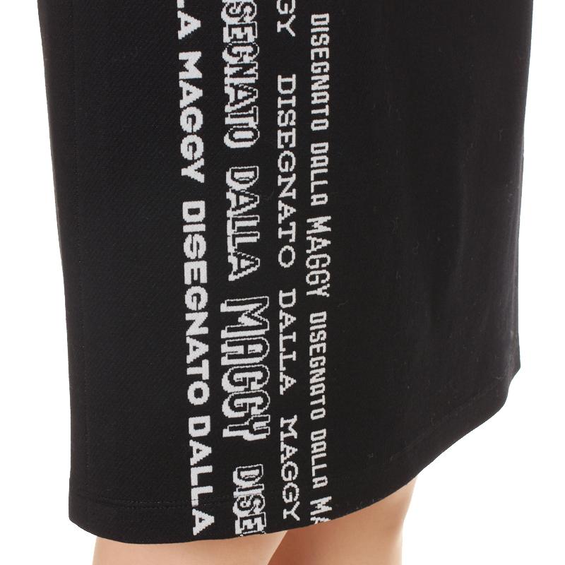カタログ掲載【銀座マギーオリジナル】DONDI オリジナルロゴ ジャージ スカート[ブラック]
