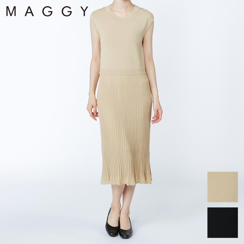 MAGGY/サマーニットワンピース[全2色]