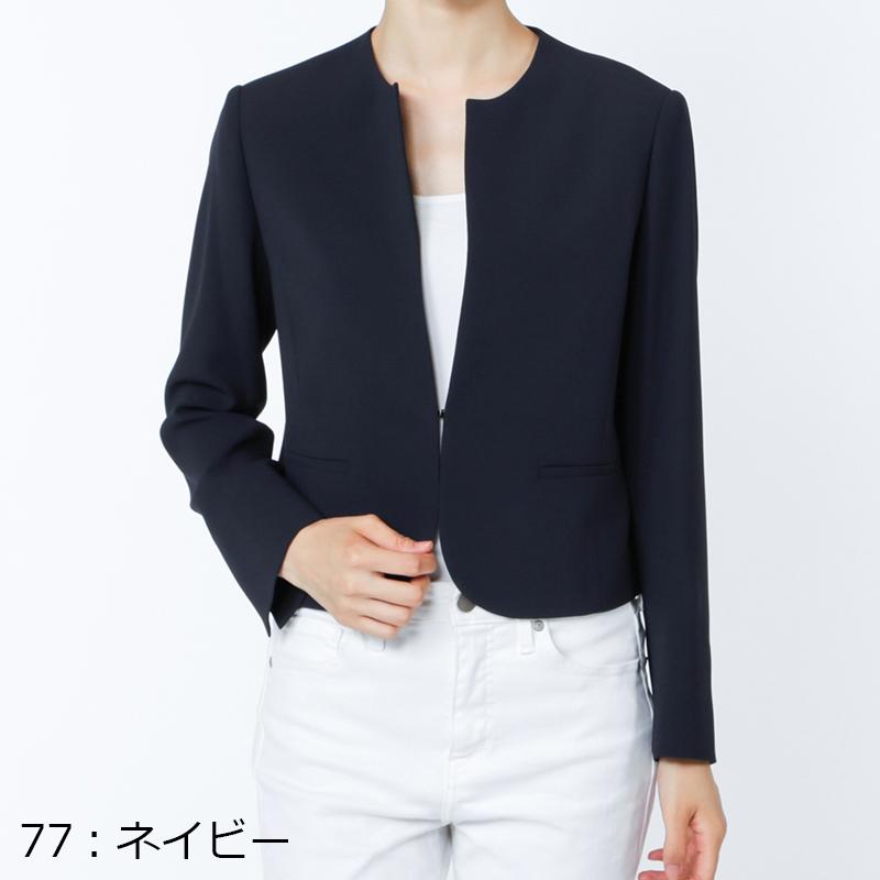 【銀座マギーオリジナル】トリアセ 1フック ノーカラー ジャケット[全3色]