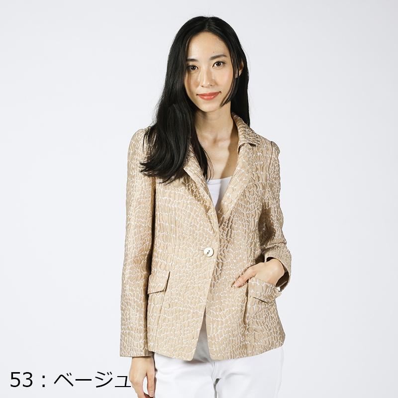【銀座マギーオリジナル】SORDEVOLO アニマルジャカードジャケット[全2色]