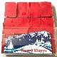 紙ふぶき(赤):長方形の吹雪/Snow storm Red
