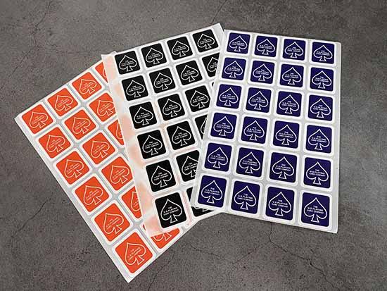 【少量セット】密封シール:黒(デックステッカー)6枚 / Deck Stickers