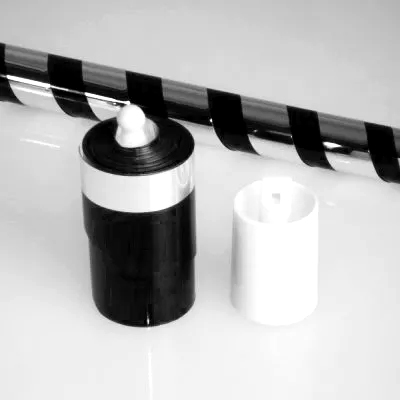 バニシングケーン(プラスチック)メタリック:ブラック&シルバー※