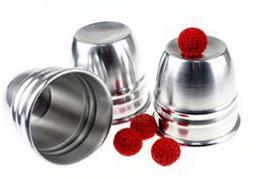 カップ&ボール(アルミ製)シルバー /  CUPS & BALL80