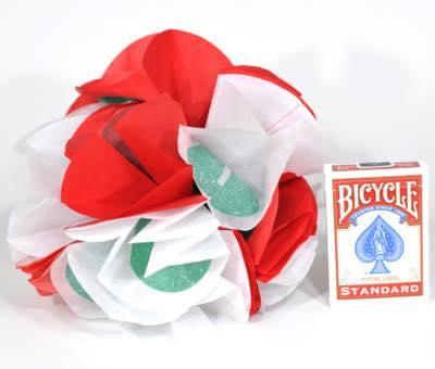 くす玉(紅白)紙製