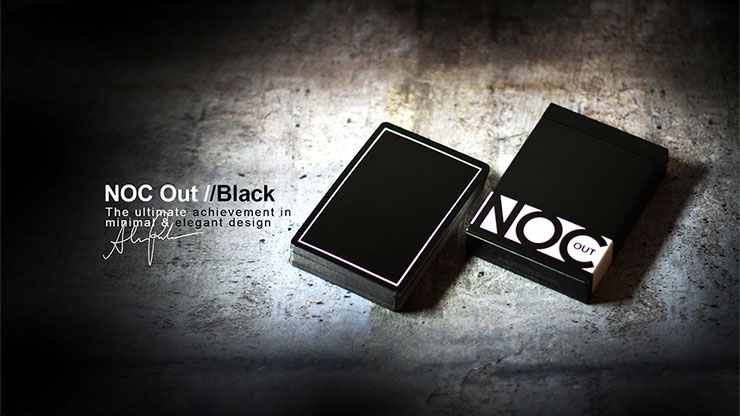 NOC OUT デック:ブラック/NOC Out: Black Playing Cards