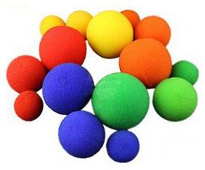 【激安】スポンジボール:黄(中サイズ35mm)