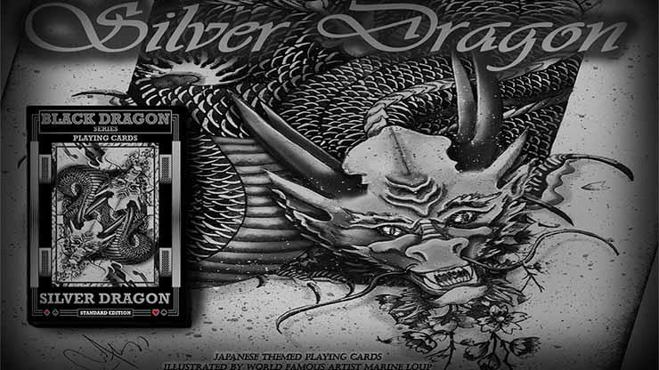 シルバー・ドラゴン・デック(スタンダードエディション)/Silver Dragon (Standard Edition) Playing Cards by Craig Maidment