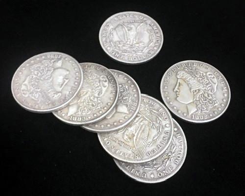 マグネティックコイン:ワンダラー(スーパーストロング)/Magnetic Morgan Dollar (Super Strong,3.8cm, Brass)